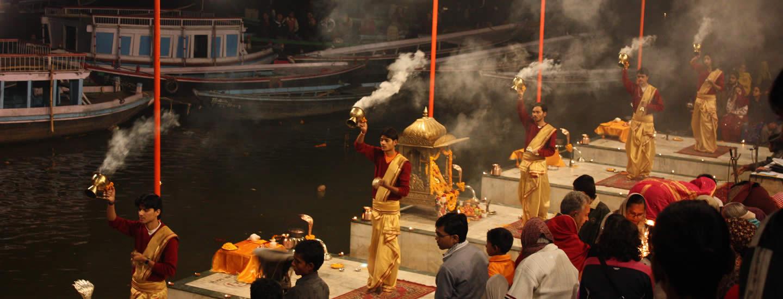 Arti Puja At Varanasi